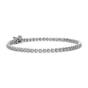 Sparkling 2.90 carats round cut diamonds bracelet